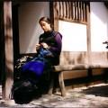 Natu House Garden Kyoto 2001, Celia Pym Knitting