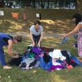 Burying Emma under clothes